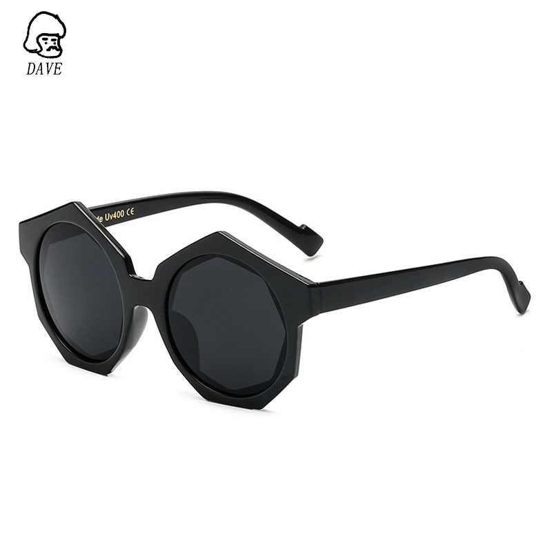 DAVE Brand Design Polygon Sunglasses Women Mirror Retro Round Sunglasses Men Hexagon Hip Pop Stylish Eyewear