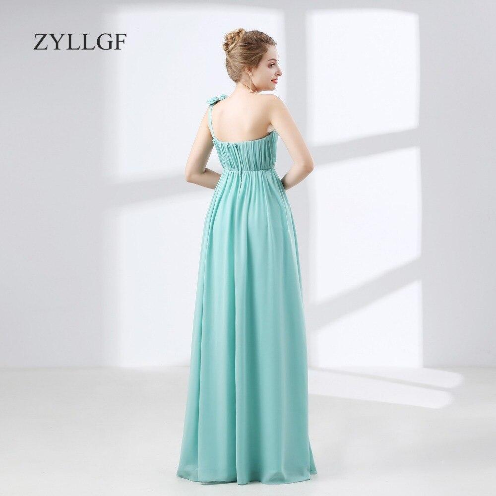 ZYLLGF Vestido De Madrinha De Casamento Longo Chiffon Wedding Guest ...