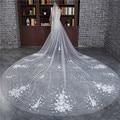 2017 New 3 Meter Veu de noiva Wedding Accessories Flowers One-Layer Cut Edge Cathedral Wedding Veil Bridal Veils
