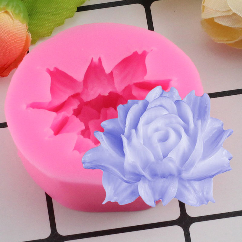 Mujiang Chrysanthemum Candle Silicone Soap Mold Cupcake Fondant Cake Decorating Tools Daisy Flower Chocolate Candy Clay Molds