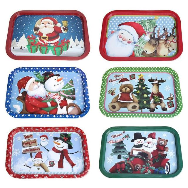 Christmas Dinner In A Tin.Us 6 24 31 Off 6styles Creative Cute Christmas Food Dinner Plate Tin Dish Tableware Gift Christmas Kitchen Ornaments 2019 New Year Decoration In