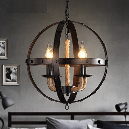 Loft Style Hemp Rope LED Pendant Light FixturesVintage  Industrial Indoor Lighting For Dining Room Hanging Lamp Lampara loft style iron vintage pendant light fixtures edison industrial lamp dining room bar diy hanging droplight indoor lighting