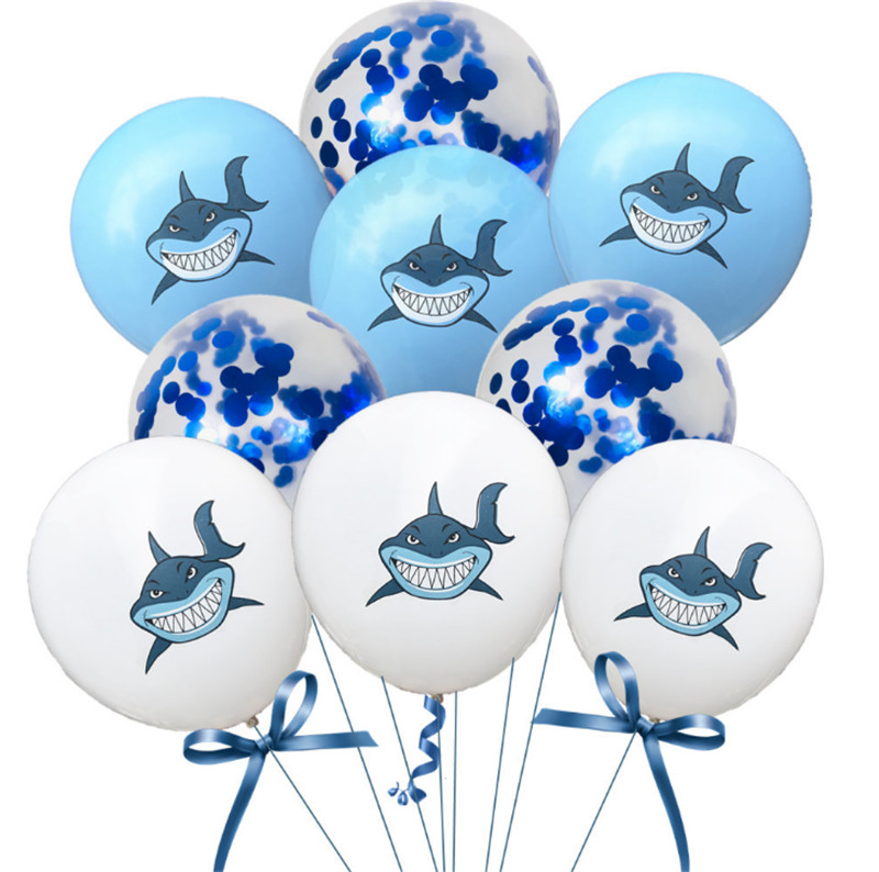 Taoqueen Cartoon Hat Sharks Multicolor Confetti Balloon Wedding Ballons Birthday Party Decoration Baby Shower Supplies