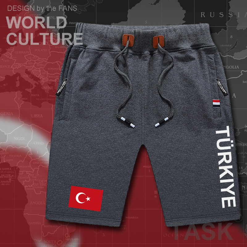 Turkey Mens Shorts Beach New Men's Board Shorts Flag Workout Zipper Pocket Sweat Casual Clothing 2017 Turkish Turk Country TR