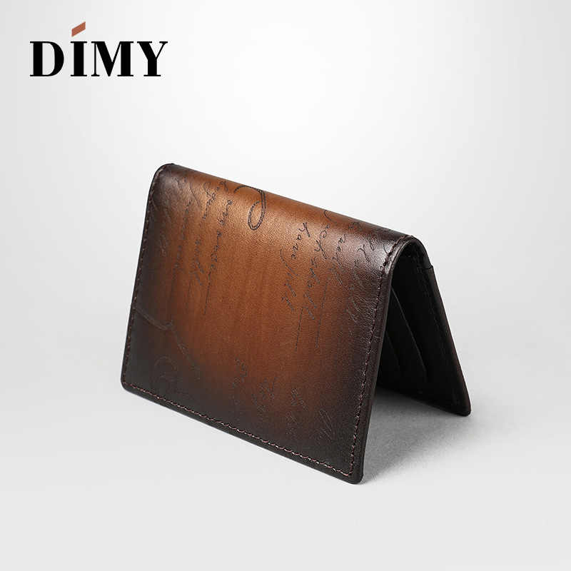4c0aaf4db91372 ... DIMY Famous Handmade Italian Genuine Leather Wallets Men Luxury Scritto  Designer ID Credit Card Holders Case ...