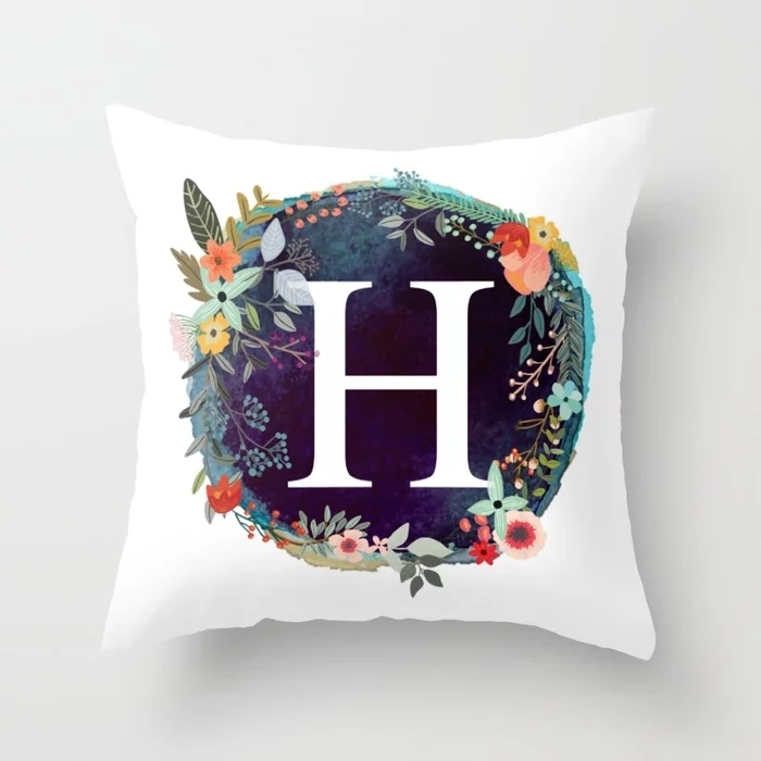 personalized-monogram-initial-letter-h-floral-wreath-artwork-pillows.webp