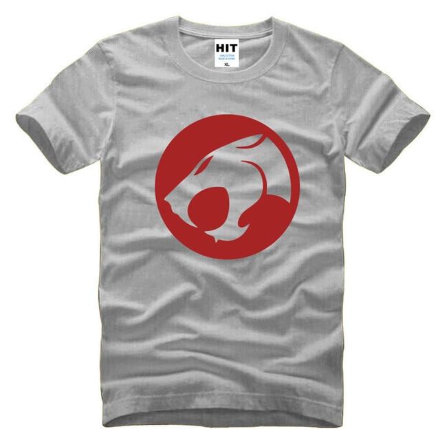 Thundercats Мультфильм Печатных Мужская Футболка Футболка Мода 2016 Новый Коротким Рукавом О Шеи Хлопок Футболки Tee Camisetas Hombre