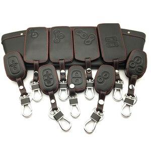 Image 1 - 100% leather car key case key cover for Renault Clio Dacia Logan Sandero Megane Modus Espace Kangoo keychain Remote control case