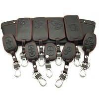 Funda de cuero 100% para llave de coche para Renault Clio Dacia Logan Sandero medane Modus Espace Kangoo llavero funda de control remoto