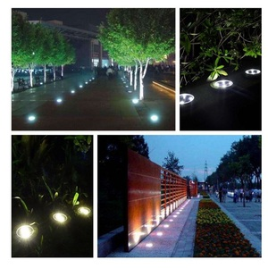 Image 5 - Solar LED Lawn Light Warm/Cool White Ground Lamp Waterproof Buried/Garden/Landscape Channel Outdoor Lighting