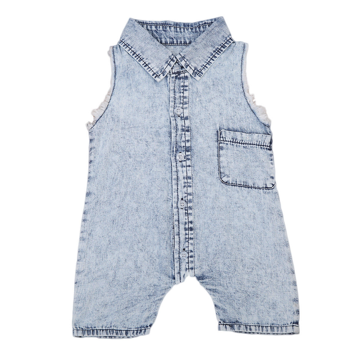 Summer Denim Toddler Baby Vest Sleeveless Romper Infant Boy Girl Jumpsuit Casual Clothes Outfits kid newborn summer clothes toddler baby boy girl sleeveless floral cotton romper outfits sunsuit