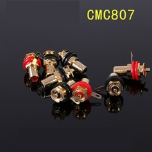 RCA amplifier amp rca 4pcs/lot signal lineconnector adapter RCA lotus head copper gold plated RCA connectors hifiboy