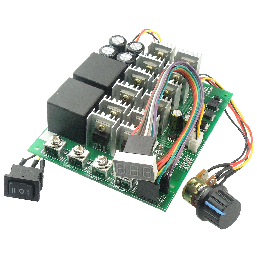 Dc 12v 24v 36v 48v 60a 3000w Pwm Motor Speed Control Controller Is The Bidirectional Circuit Which Allows Forward And Reverse Programable Hho Rc