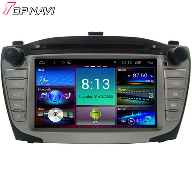 Top Quad Core Android 4.4 Car DVD Radio for HYUNDAI XI35 With Mirror Link Wifi BT GPS16GB Flash Free Map
