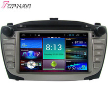 TOPNAVI Quad Core Android 4.4 Car DVD Multimedia Player for HYUNDAI XI35 Autoradio GPS Navigation Audio Stereo Bluetooth
