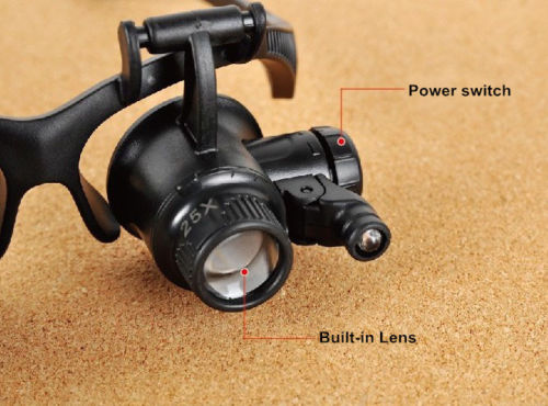 Image 4 - New Design Binocular Glasses Type 20X Watch Repair Magnifier with LED Light Hunting Optics In Stock Hot-in Monocular/Binoculars from Sports & Entertainment