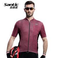 2017 רישום חדש Santic רכיבה על אופניים מעילי גברים אופניים אופני רכיבה על אופניים גופיות למעלה שרוול קצר רוכסן לנשימה ג 'רזי Ciclismo Ropa