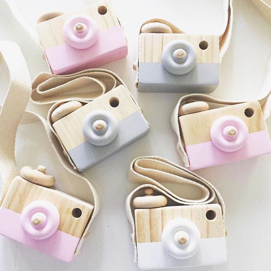 Cute Nordic Hanging Wooden Camera Toys Kids Toys