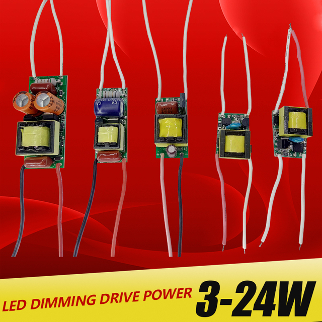 3W,5W,7W,8-15W,18-24W, LED Dimming driver power supply built-in constant current Lighting 220V Output  Transforme