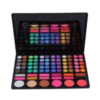 10Pcs Professional 78 Color Eye Shadow Cheek Blusher Lip Gloss Makeup Palette