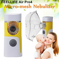 Feellife Air Pro4 Handheld Micro Mesh Nebulizer Inhaler Bluetooth APP Control Automatic Shut off Detatchable Head Convenient