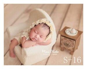Image 5 - Dvotinst新生児の写真の小道具ポーズミニソファアームチェア + 2個枕poser写真プロップfotografiaスタジオ