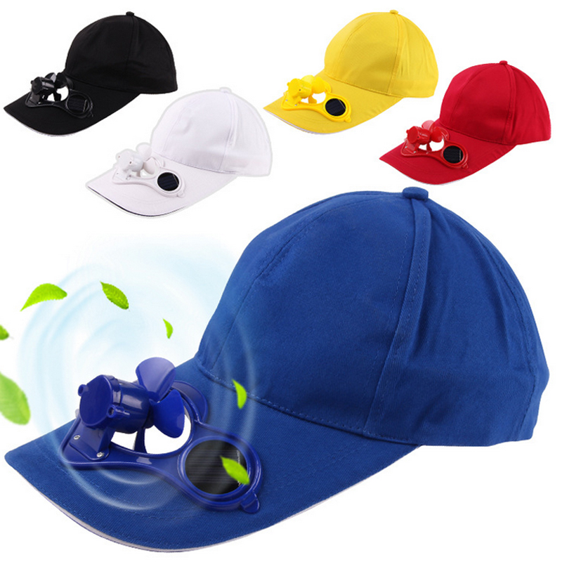 2017 Novelty Solar Power Baseball Caps with Cooling Fan