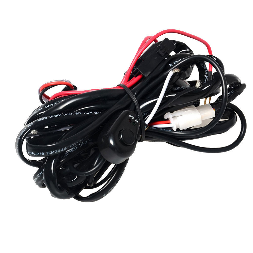 EE support 40A 300W Wiring Harness Kit LED Light Bar Laser Rocker Switch Fuse Driving XY01
