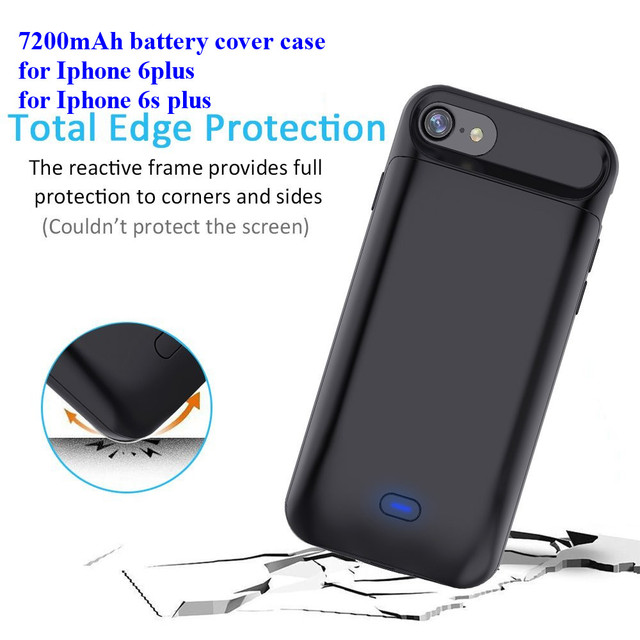 promo code 08ae2 c2513 US $21.76 |Best price 7200mAh External backup fast charging mobile power  bank case portable battery charger case for iPhone 6p/6sp-in Rechargeable  ...