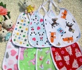 22*17CM cartoon Cotton Baby Bib Infant Saliva Towels Baby Bib Cartoon Baby Wear 15pcs/lot mix free shipping