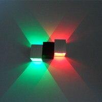 NOVO! parede Super brilhante lâmpadas LED 85-265 V 2*3 W 6 w suporte de parede do quarto luzes luz do corredor luzes luzes do corredor lâmpada da escada Frete Grátis