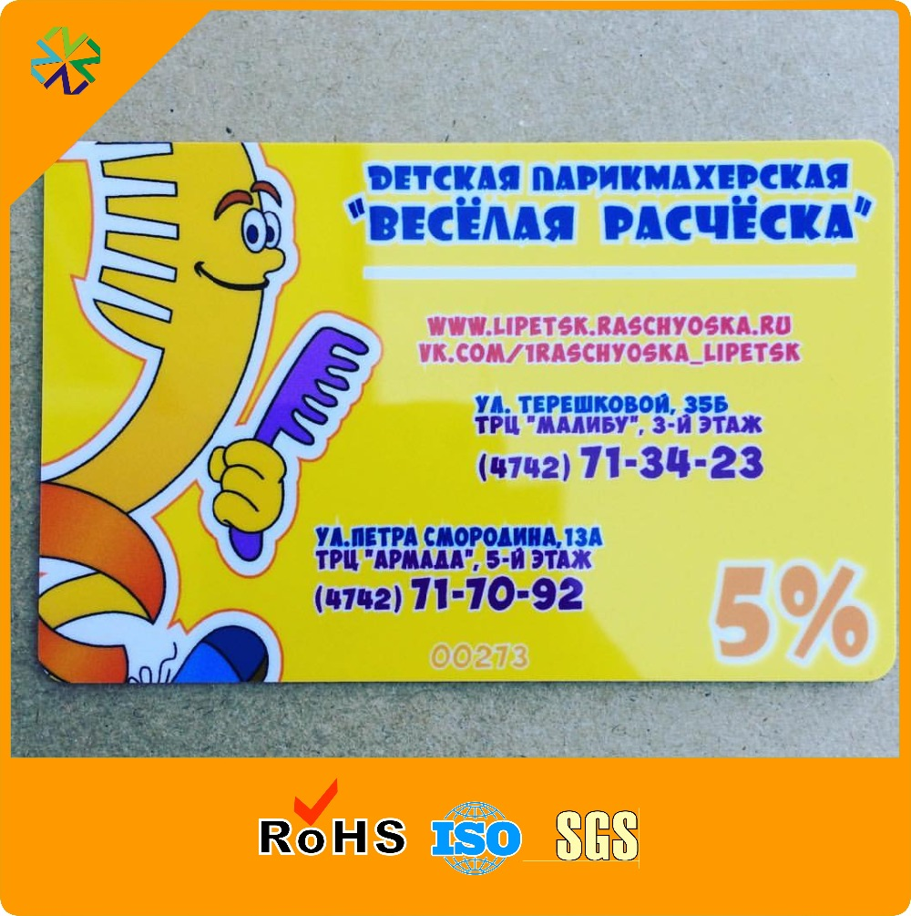 Customized offset printing PVC business VIP member gift card discount card