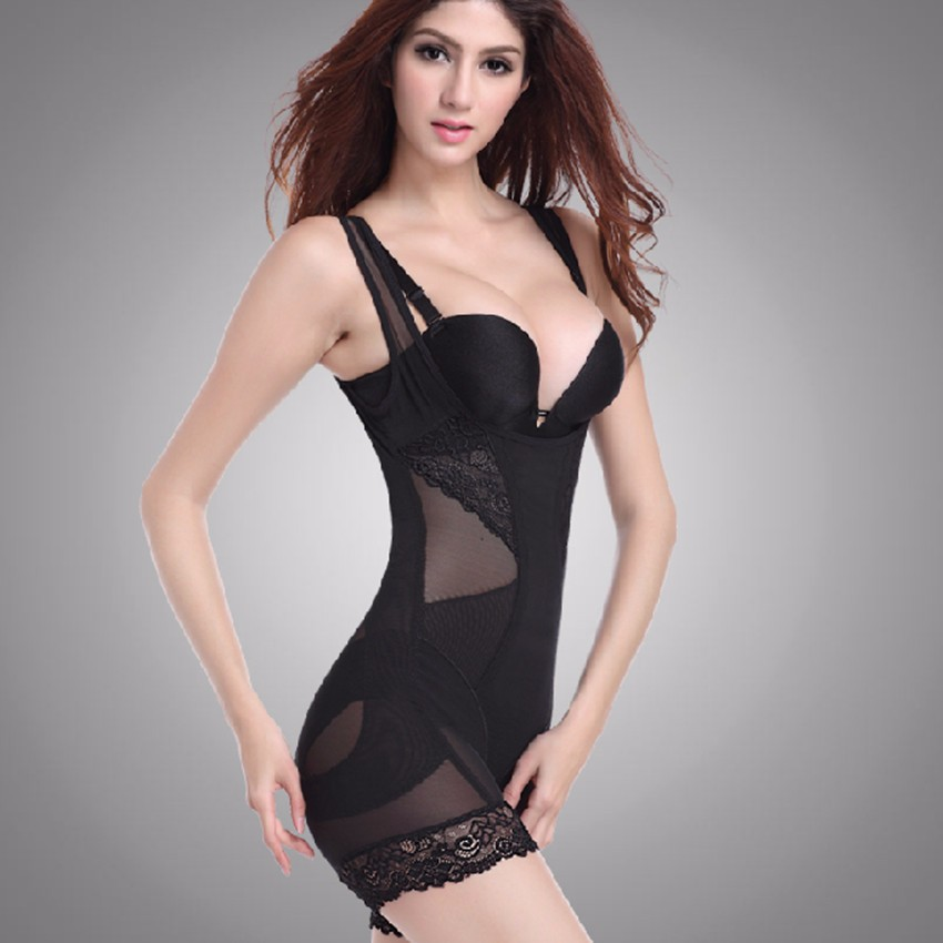 dd280bb36 Lace Women Butt Lifter Sculpting Shapewear Full Body Control Corset ...