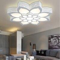Новый шаблон двойной слой большой лотоса Тип потолочный светильник, RGB + белый свет + теплый свет интеллектуальное управление/оборудования г