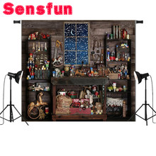 Christmas Store Shop Snow Window Wood Shed Mechanic Tools Custom Photo Studio Backdrop Background Vinyl 7x5FT(China)