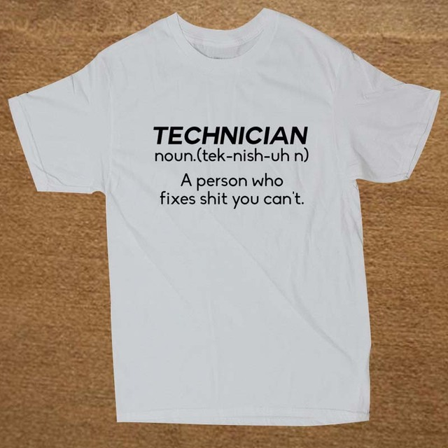 7429564c7 New Summer Style NOUN TECHNICIAN Funny Joke Rude BIRTHDAY Gift Computer Geek  T-shirt T Shirt Men Casual Short Sleeve Top Tees