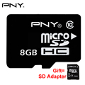 8 ГБ PNY Памяти Карта Карта Micro Sd 8 ГБ MicroSDHC Class 10 Tarjeta Micro SD Карт TF Карта Смартфон Камеры С SD Адаптер