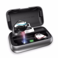 TWS wireless bluetooth earphone IPX7 Waterproof HiFi Sound Bluetooth 5.0 Wireless Earphones with Mic and Portable Charging Case
