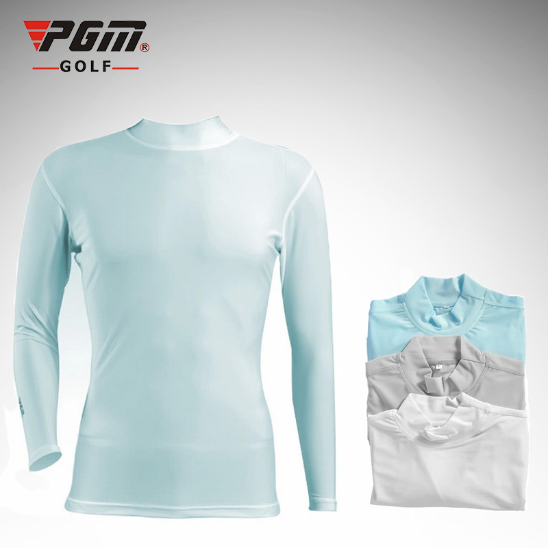 Pgm Men Ice Anti-Uv Golf Shirts Long Sleeve Sunscreen Golf T Shirt Summer O-neck Tight Underwear Golf Clothing D0355