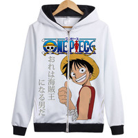 2018 New One Piece Suolong Icis Lor Comic Hoodie Long Sleeved Autumn And Winter Youth Zipper