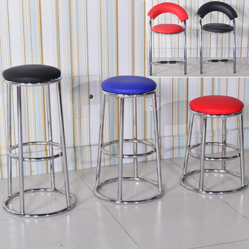 chair bar stool Concise Modern Mobile Phone Shop Hall Counter Bar Counter Chair Bar Stool modern design popular aluminum metal bar stool side stool bar chair cafe loft bar furniture high nice kitchen room counter stool
