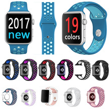 FOHUAS Brand Silicon Sports Band Colorful wrist Strap for Apple Watch 38/42mm Black/Volt Bracelet Series 2&1 iwatch watchbands