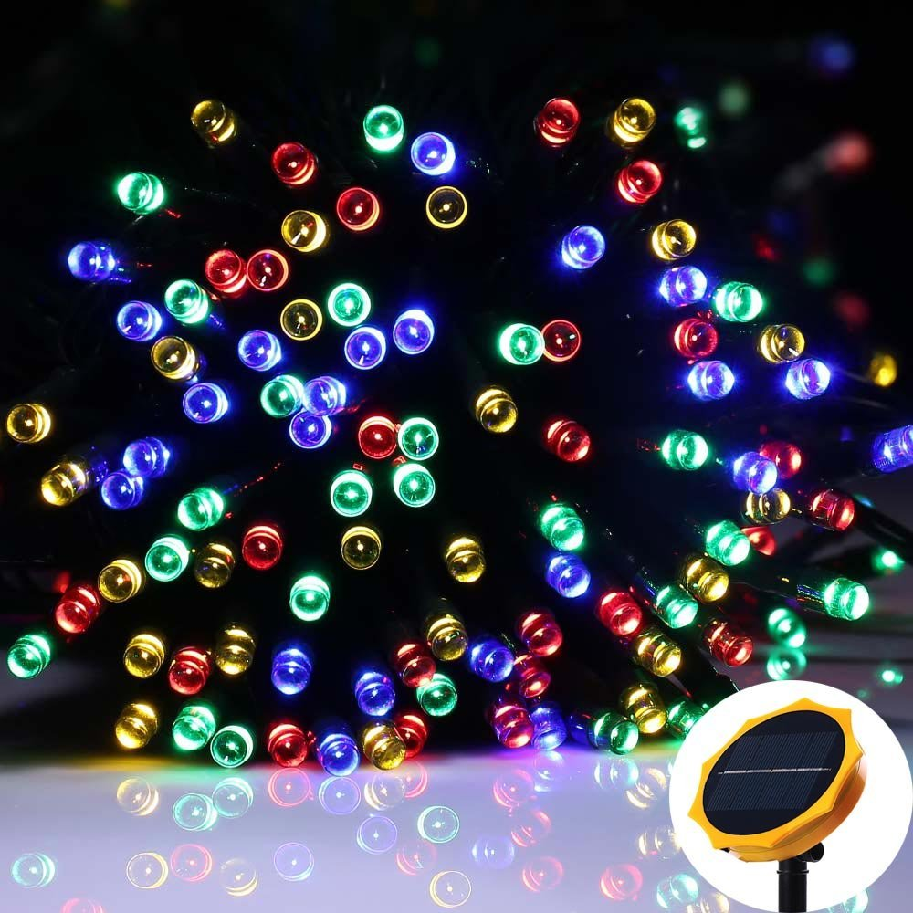Solar String Lights 22M 200 LED Solar Garden Light Outdoor Lighting Waterproof Starry Fairy Christmas Decoration Lights Patio ledniceker multi colored solar led string lights with garden solar panel for garden patio christmas tree parties and all outdoor and indoor activities decoration 4 8 meters long 20 waterproof bulbs