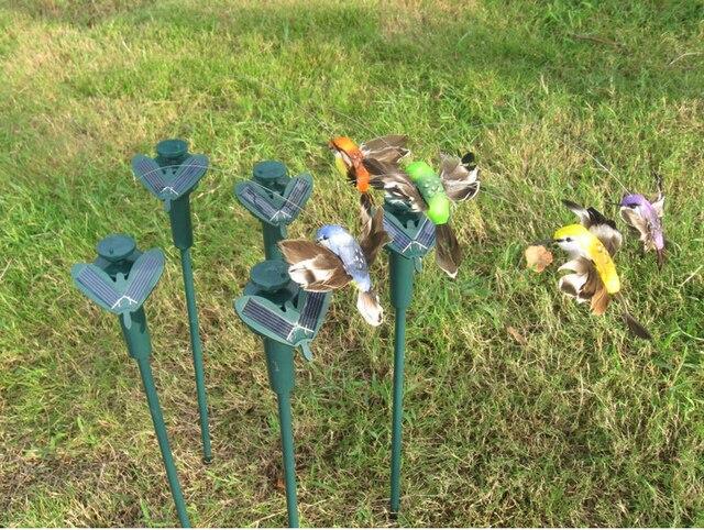 Solar Hummingbird Hummingbirds Butterfly Garden Toys Solar Bird Emulation  Bird Fly Educational Toy Battery 2018 Garden