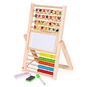 Image 2 - Soporte de aprendizaje de ábaco multifunción, juguetes de madera Montessori, tablero de cognición, juguete de matemáticas educativo temprano para niños, regalo