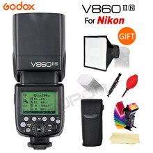 Godox Flash V860II-C/N/C/F/O GN60 i-TTL HSS 1/8000s speedlite-Li-Ion Akku für Canon Nikon sony fuji DSLR Kameras