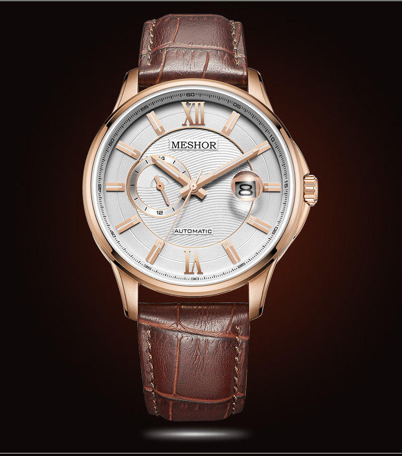 (MESHOR) automatic mechanical watch business casual men's watch MS.9040M.47.136