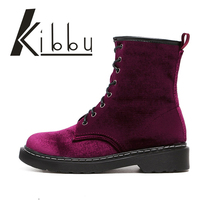 2016 British Winter Wind Belt Flat Martin Boots Boots Boots Foreign Trade Partners Velvet Low Female