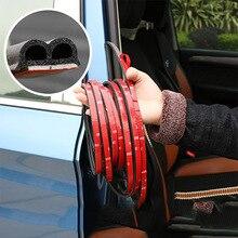 B 모양 자동차 도어 씰 스트립 스티커 트렁크 방음 방수 씰링 스티커 범용 자동차 인테리어 액세서리