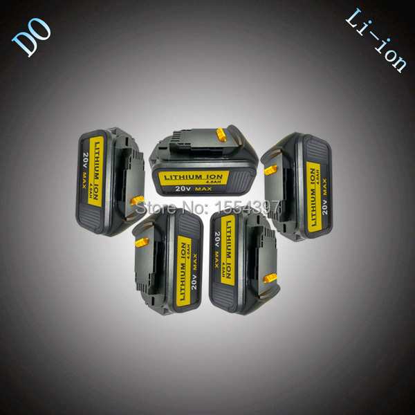5PCS 4000mAh Rechargeable Li-ion Power Tool Battery Replacement for DEWALT 18V DCB180 DCB181 DCB182 DCB200 DCB201 DCB203 DCB204 18v 6000mah rechargeable battery built in sony 18650 vtc6 li ion batteries replacement power tool battery for makita bl1860